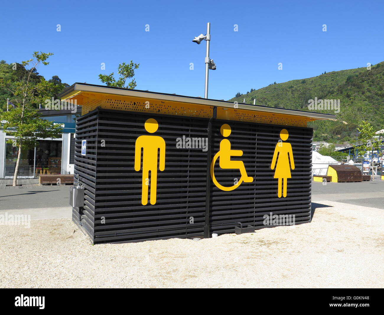 Public Toilet Block In Picton South Island New Zealand