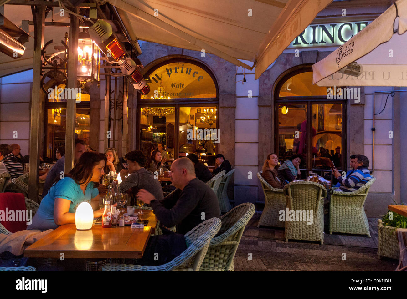 Restaurant u prince in prague old town czech republic for Terrace u prince prague