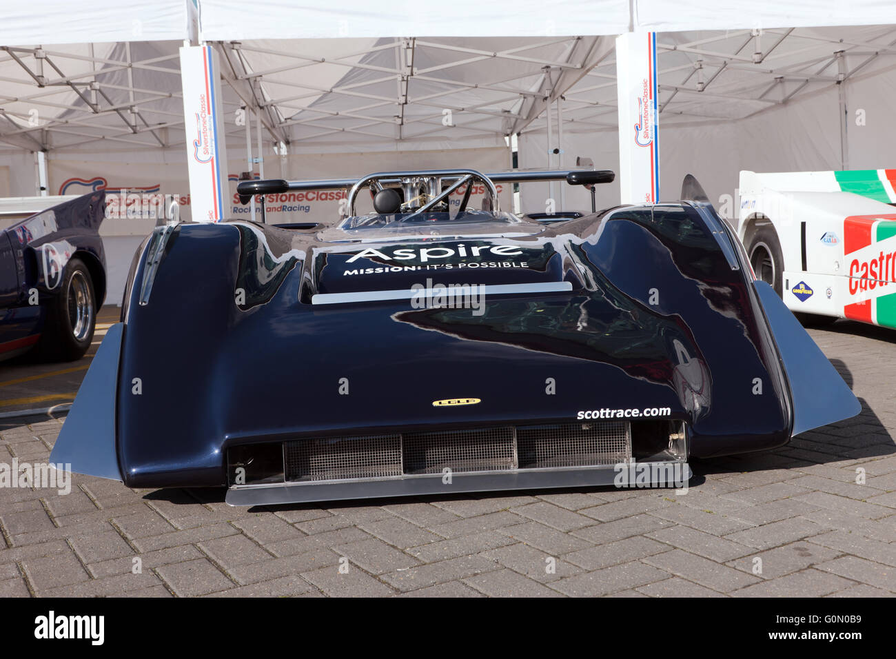 Front view of a Lola T222 Can Am race car used to set a land Speed ...