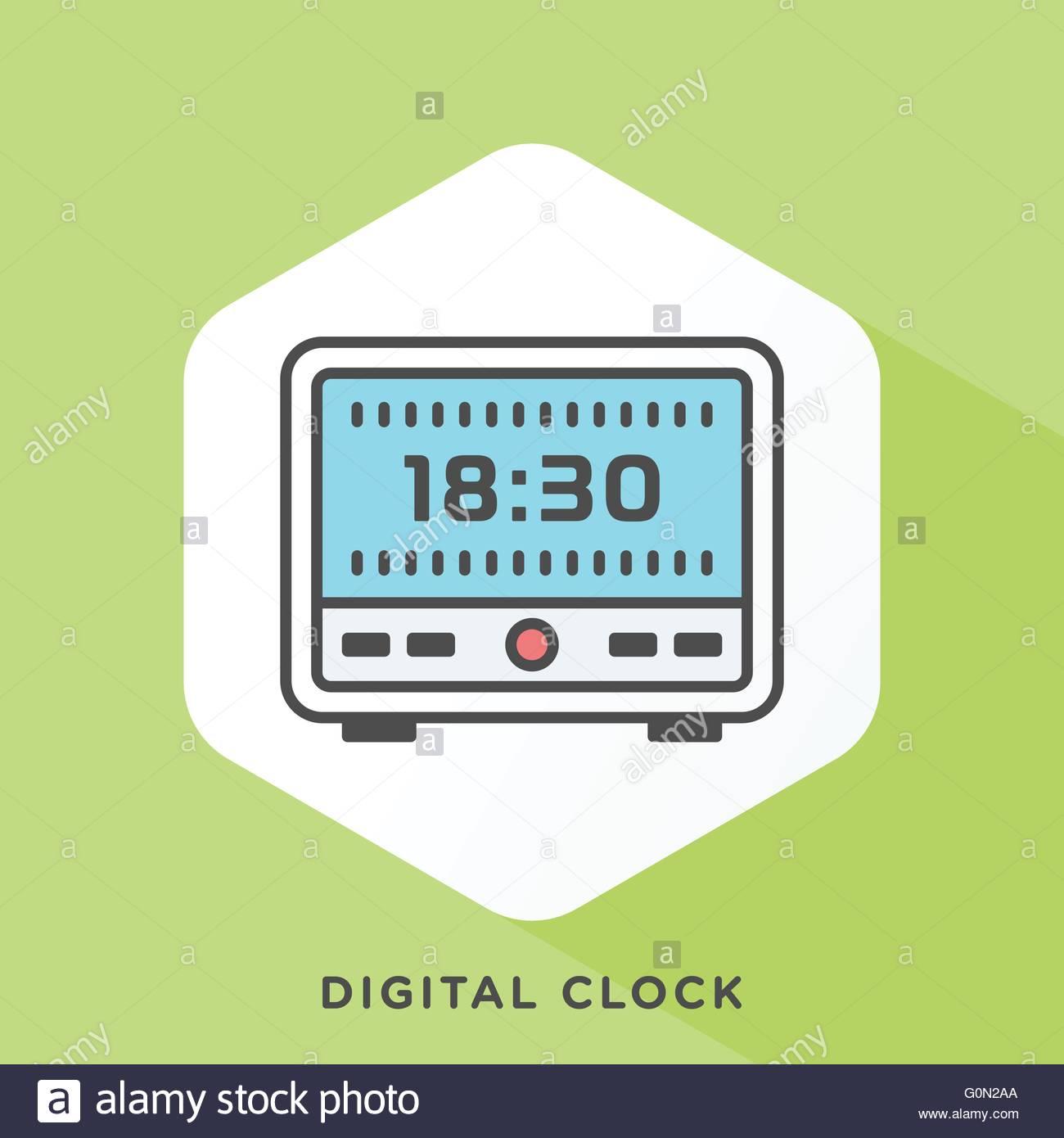 modern style minimalistic vector illustration for alarm clocks to  - modern style minimalistic vector illustration for alarm clocks to wake upright away