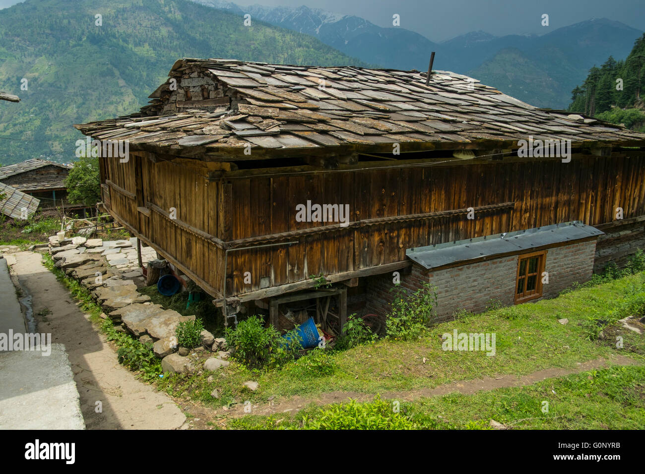 A Traditional House In The Himalayan Village Of Nashala In