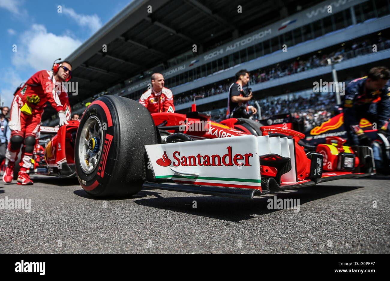 sochi russia 1st may 2016 a racing car of german driver
