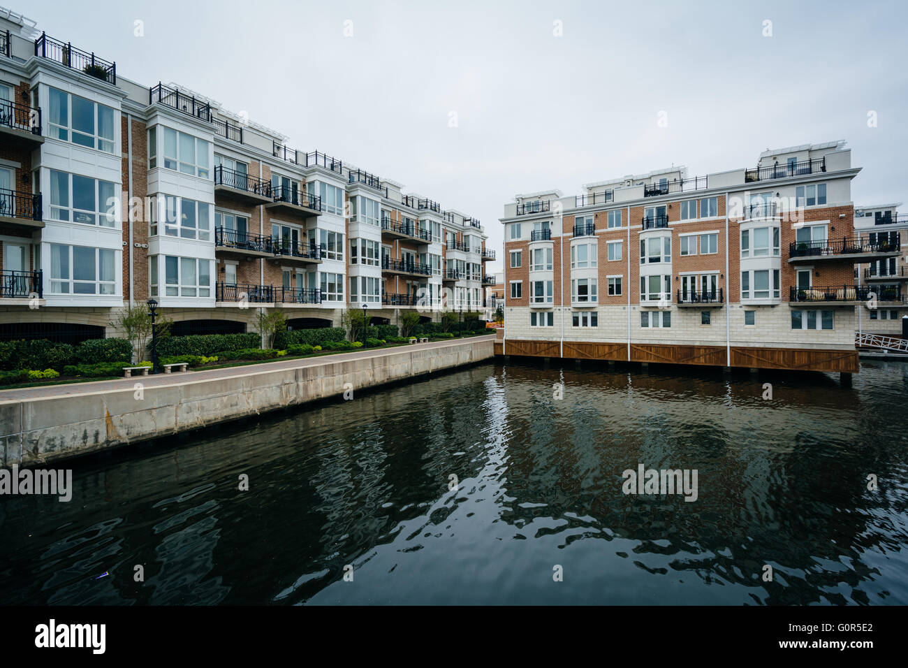 Waterfront Apartment Buildings At The Inner Harbor, In Baltimore, Maryland