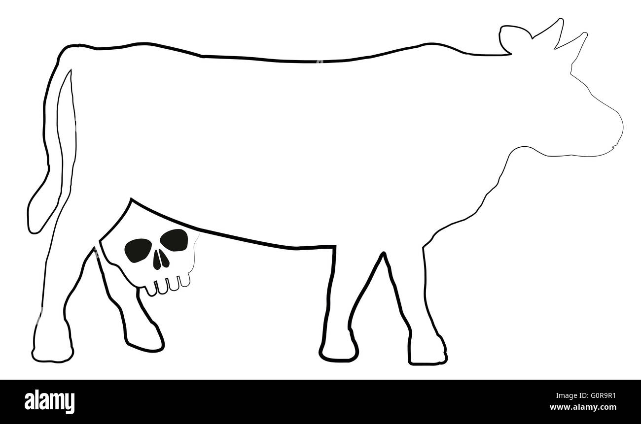 Cow with a skull instead of an udder a symbol for unhealthy milk cow with a skull instead of an udder a symbol for unhealthy milk and dairy products buycottarizona