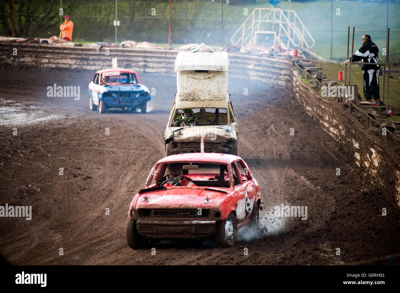 austin allegro and marina being banger raced race races track tracks ...