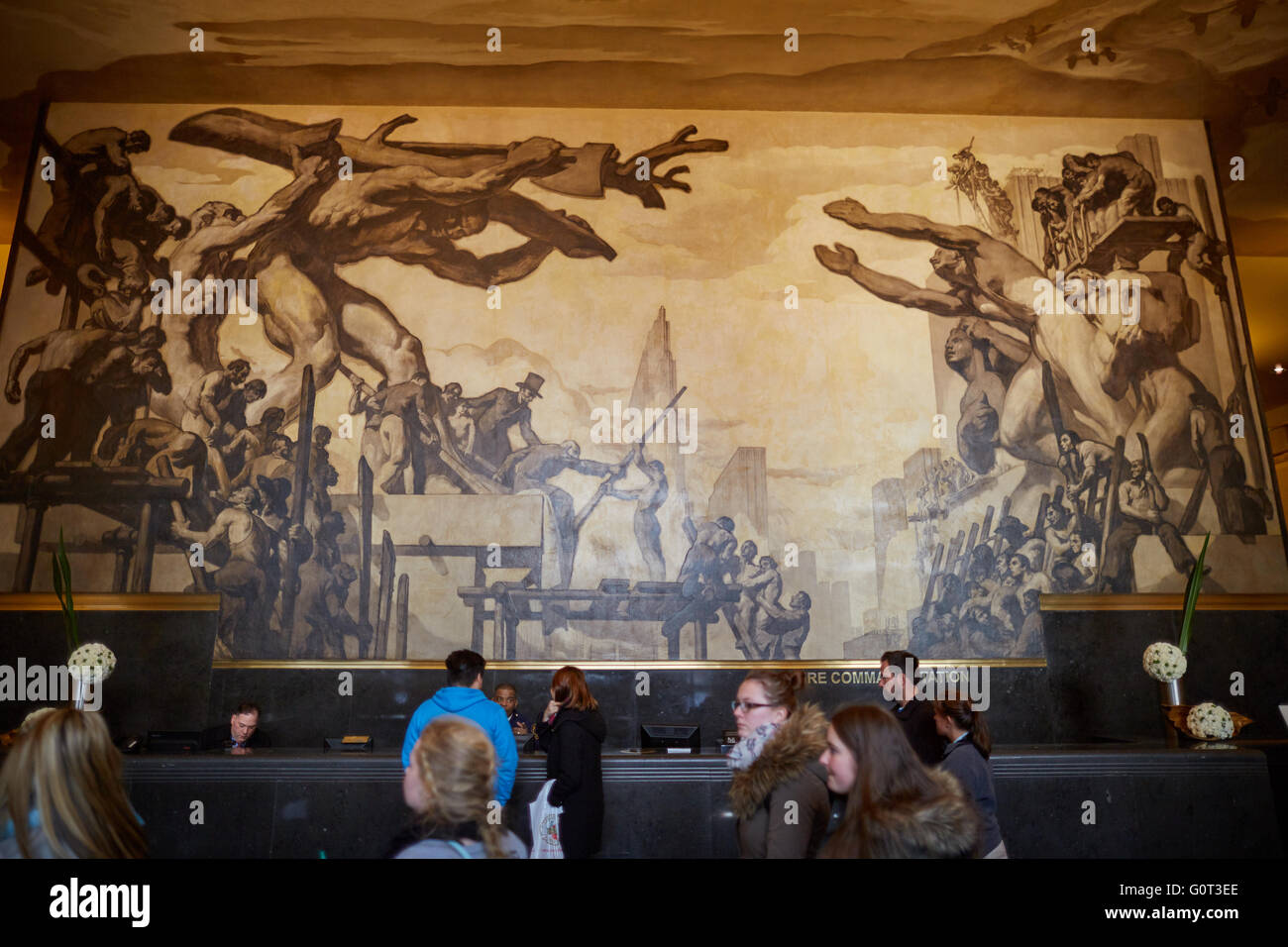 Design Ceiling Mural new york american progress back wall and time ceiling murals in the lobby of ge building by josep maria sert rockefe