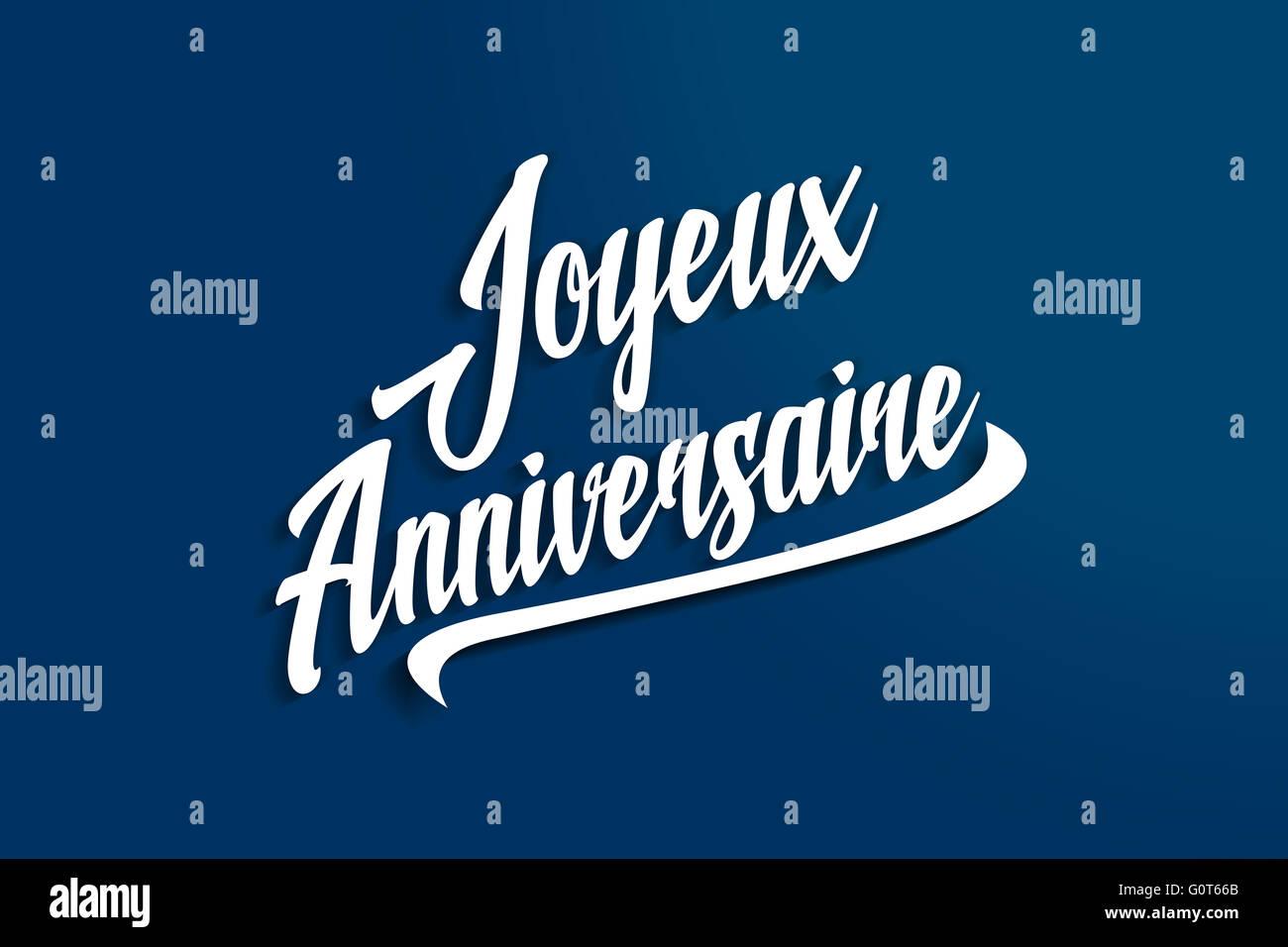 Joyeux anniversaire happy birthday in french anniversary joyeux anniversaire happy birthday in french anniversary greeting postcard illustration kristyandbryce Gallery