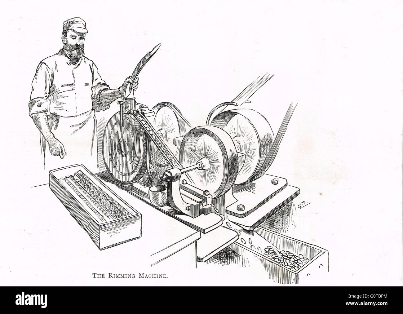 Royal Mint, London, England In The 19th Century The Rimming ...