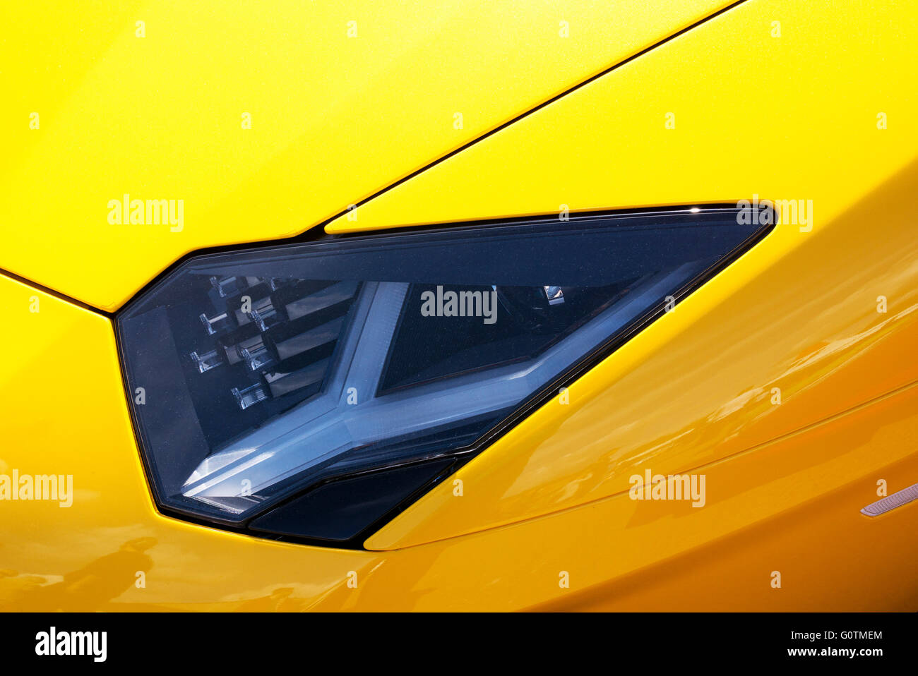 Lamborghini Aventador Roadster Front Headlight Abstract. Italian Super Car Design Ideas