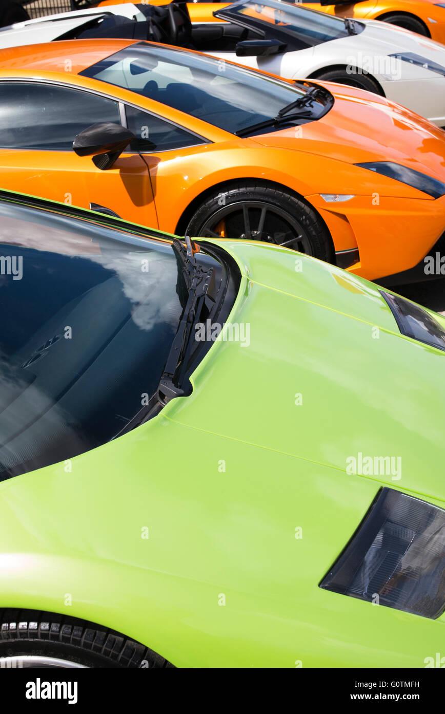 Lamborghini Cars Front End Abstract. Italian Super Car