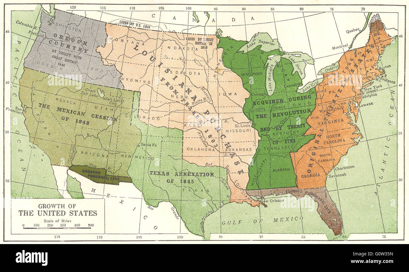 USA The Territorial Growth Of The United States - Territorial growth of the united states