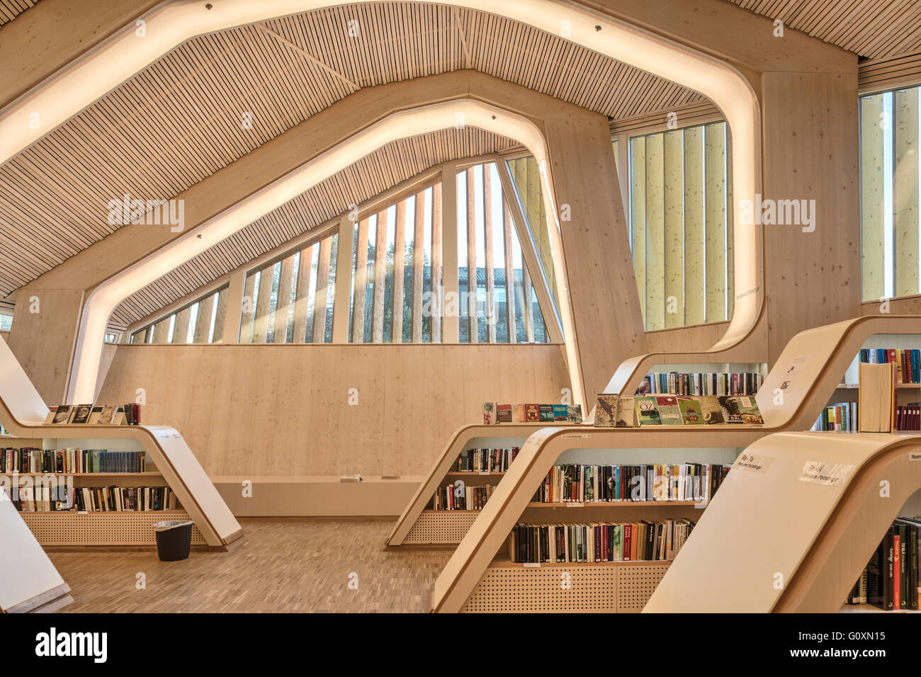the large communal public building the vennesla library a library cafe meeting place and administrative space in the town square the interior - Large Cafe Interior