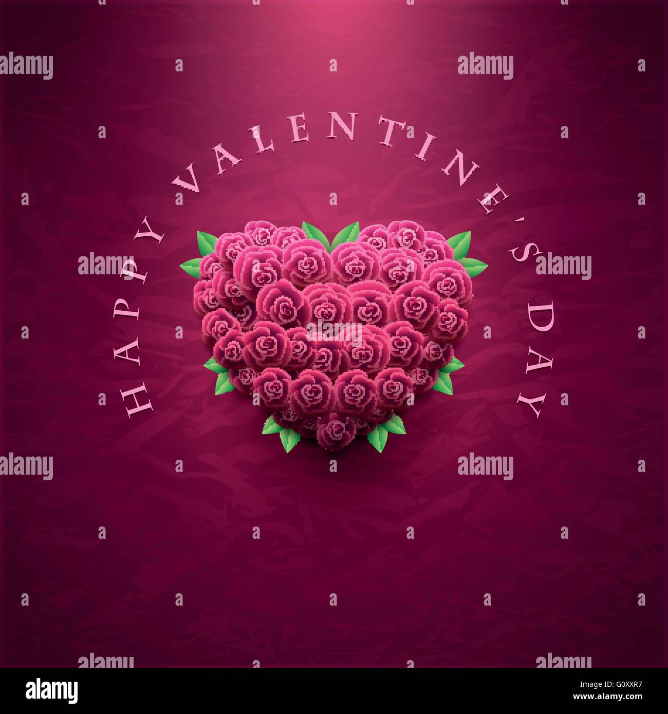 Vector retro Valentines Day greeting card design template Heart