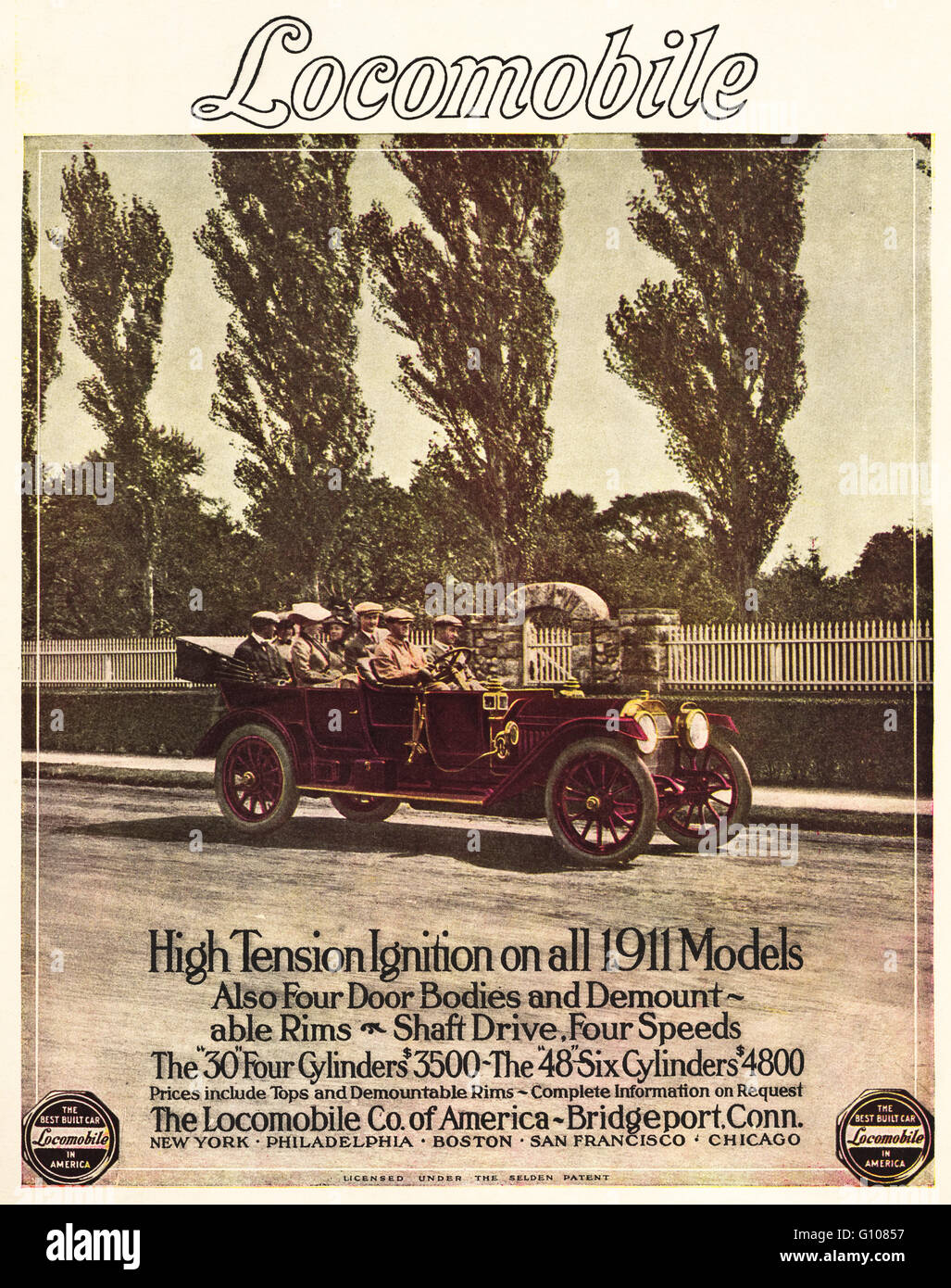 Original old vintage American magazine full page colour advert from ...