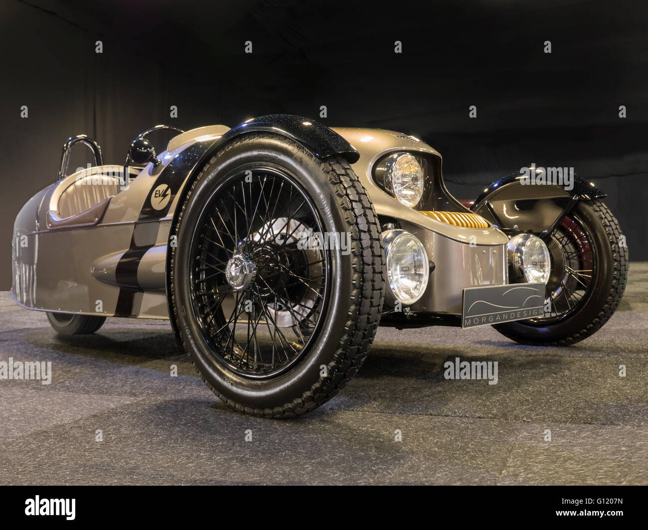 morgan 3 wheeler electric car stock photo royalty free image 103920985 alamy. Black Bedroom Furniture Sets. Home Design Ideas