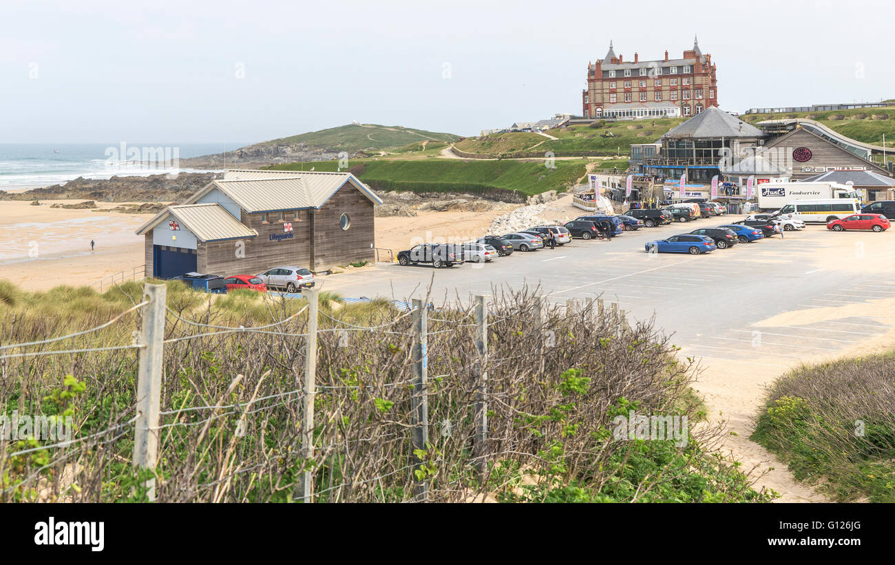 The Car Park At Fistral Beach In Newquay Cornwall