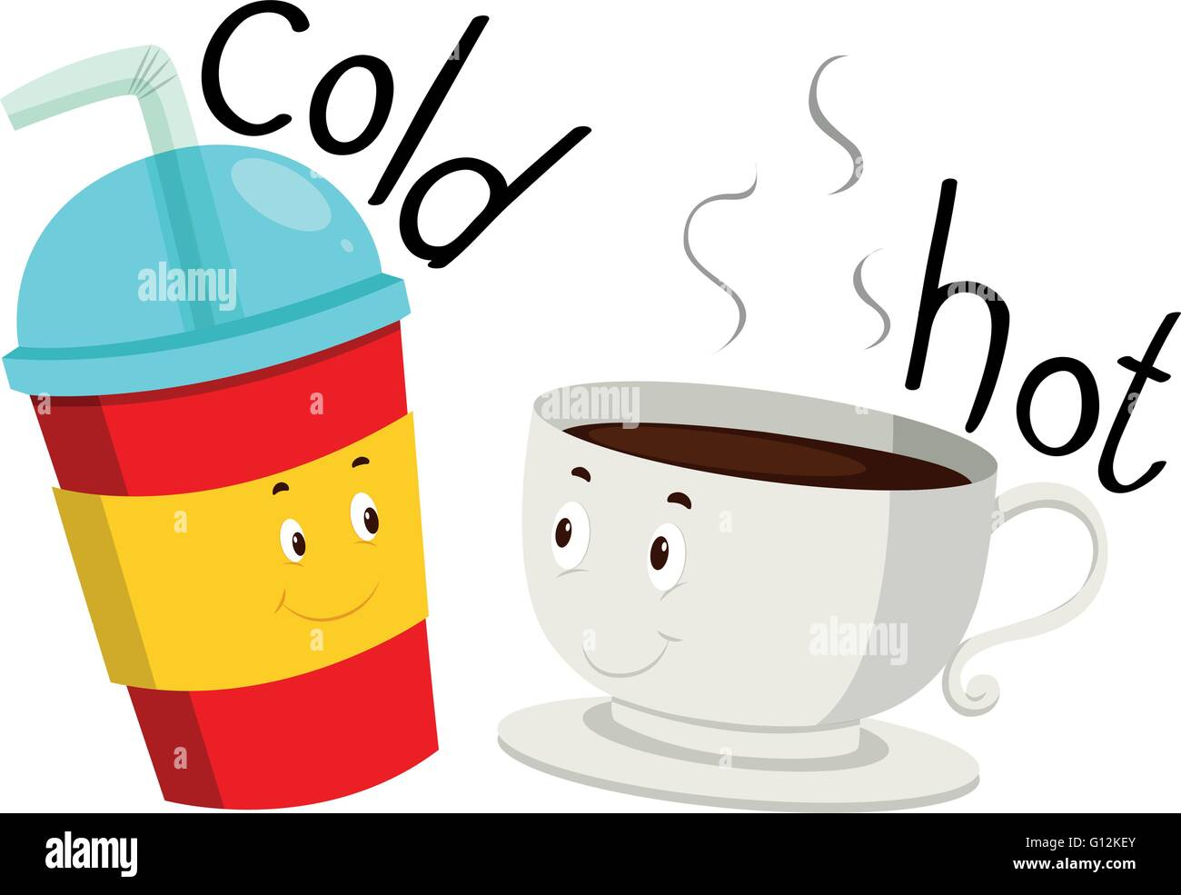 opposite adjective cold and hot illustration stock vector clip art coffee cup and donuts clip art coffee cup and donuts