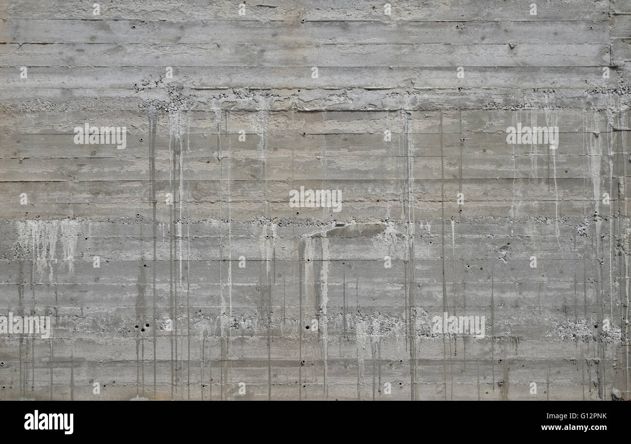 Concrete wall texture with wooden pattern impress from wooden form ...