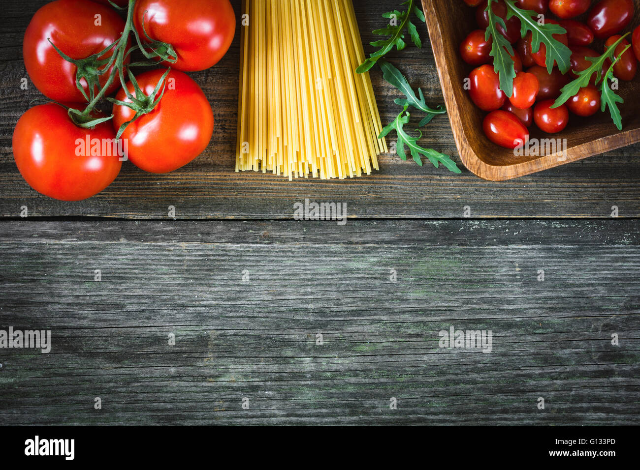 Italian Food Background Cooking Ingredients Background
