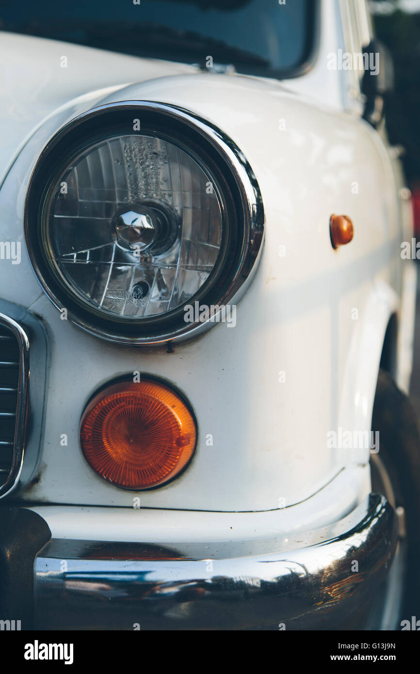 Detail of an old car in Mumbai in India Stock Photo, Royalty Free ...