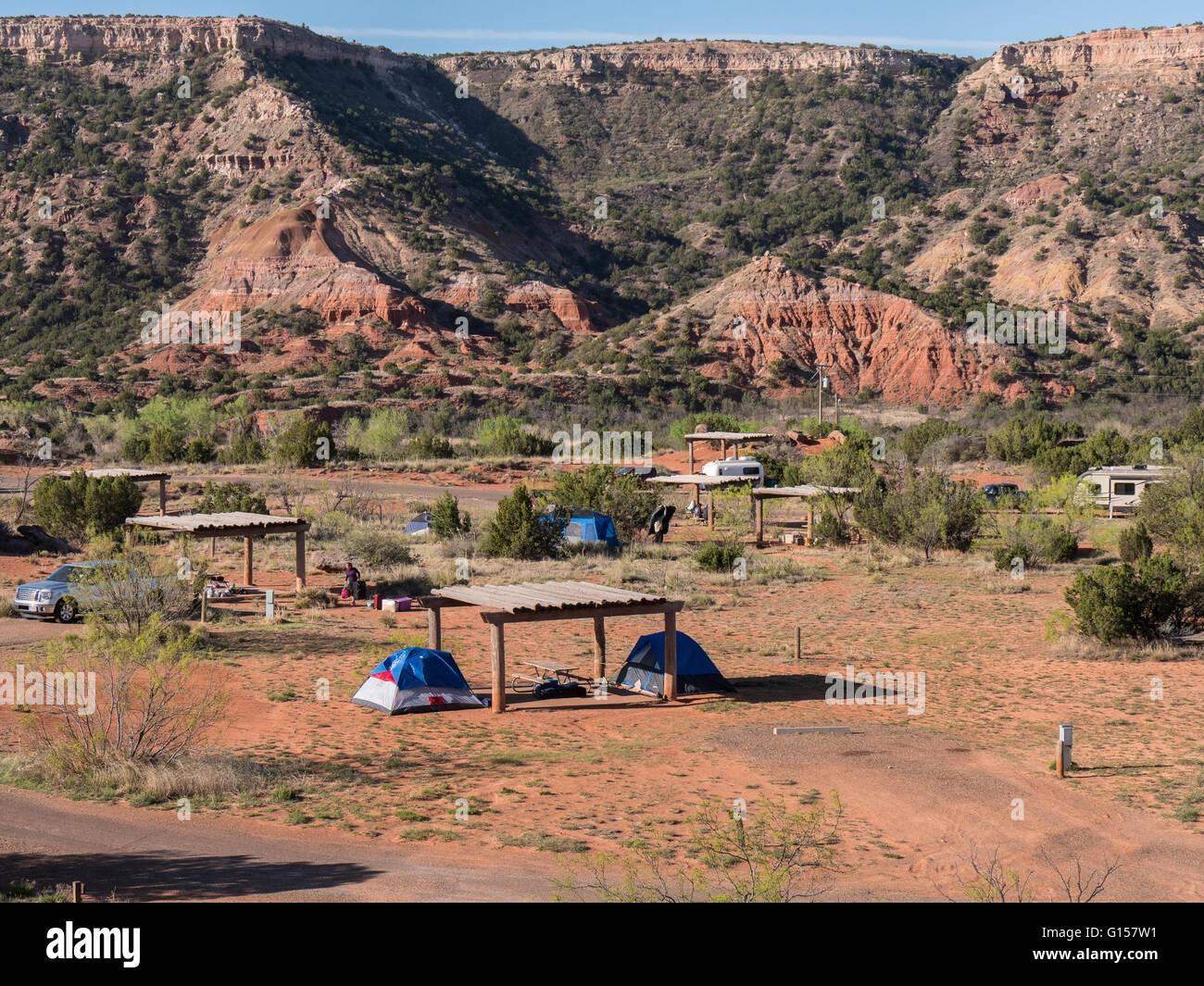 Mesquite Camp Area Palo Duro State Park Texas Stock