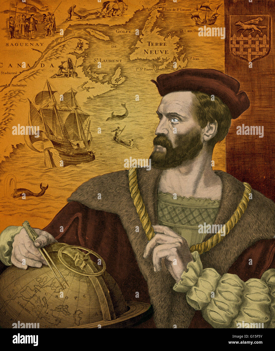 Jacques Cartier (1491-1557) was a French explorer who claimed ...