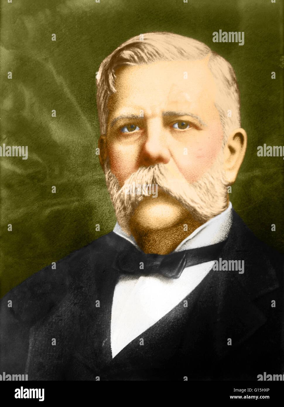 george westinghouse George westinghouse, jr (central bridge, nova york, 6 d'octubre de 1846 - id, 12 de març de 1914), inventor estatunidenc, va ser el principal responsable de l.