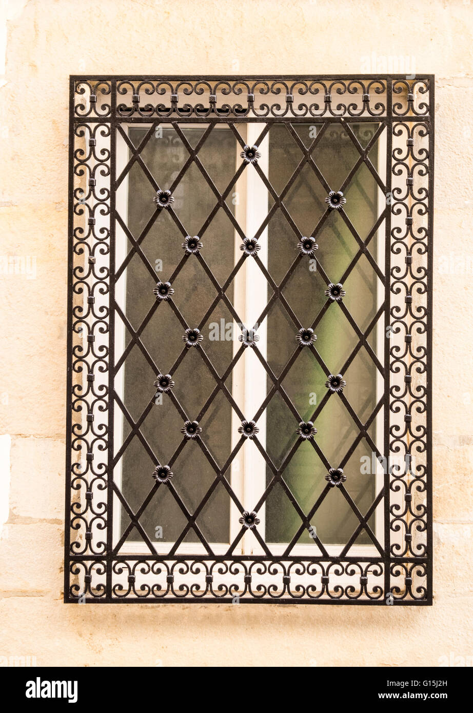 Decorative window grill stock photo  alamy