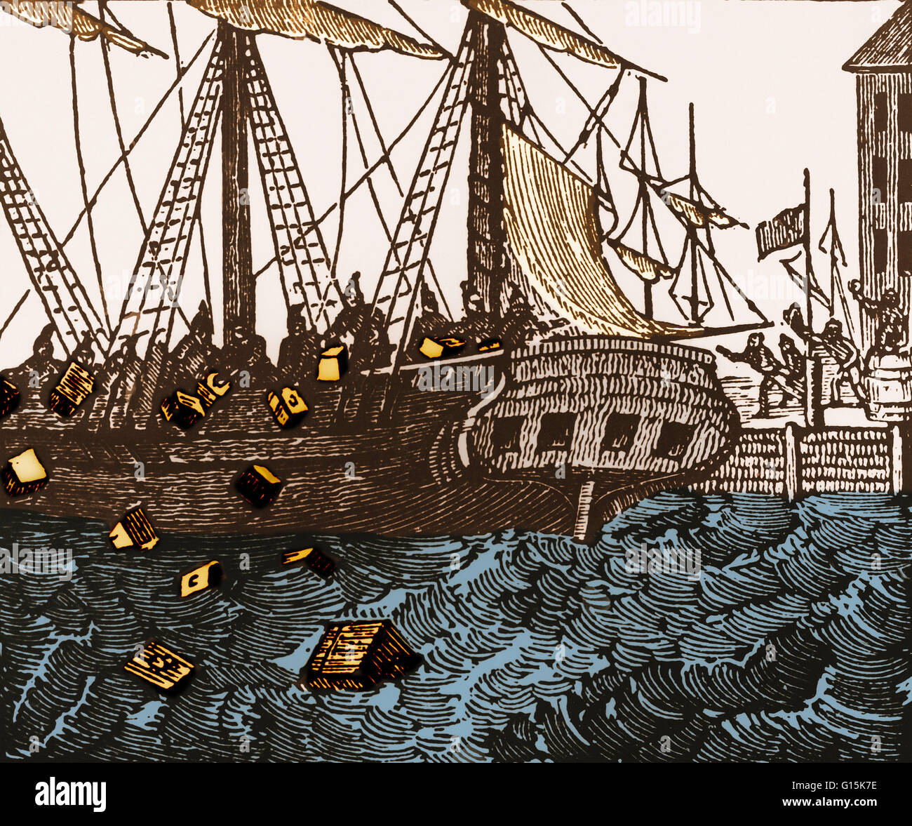 """account of the boston tea party This week in class, we're reading a participant's first-hand account of the boston tea party by george hewes in """"a participant's first-hand account of the boston tea party,"""" george hewes explains what led to the famous event, and a first-hand account of what happened."""