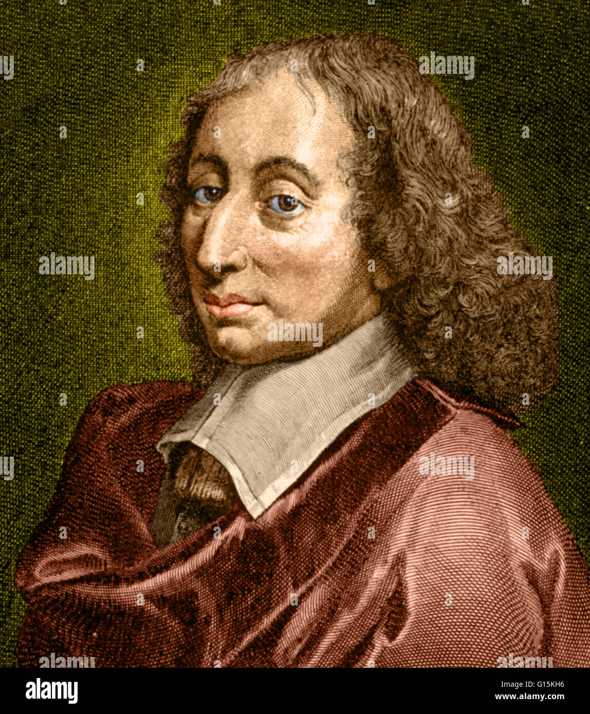 Child In French Color Enhanced Drawing Of Blaise Pascal 1623 1662 A
