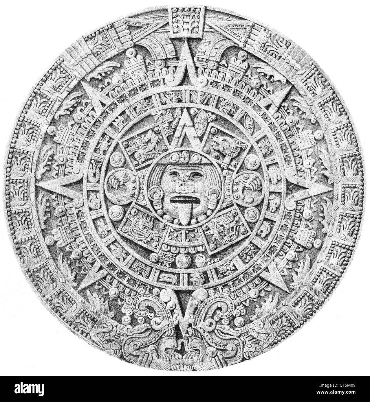 Aztec Calendar Illustration : Illustration of the aztec calendar most precious