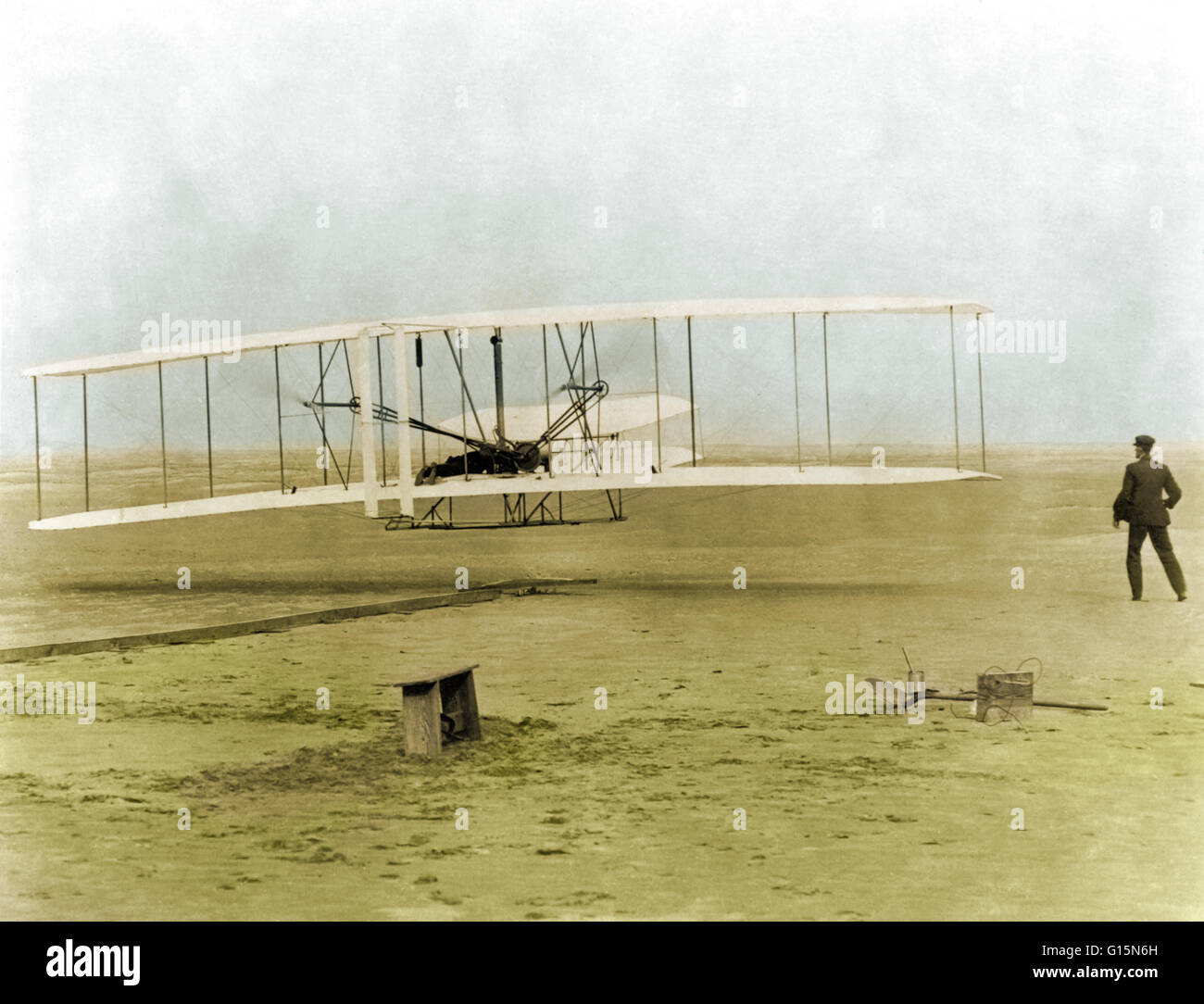 First Wright Brothers Flight intended for the wright brothers' first heavier-than-air flight. on december 17