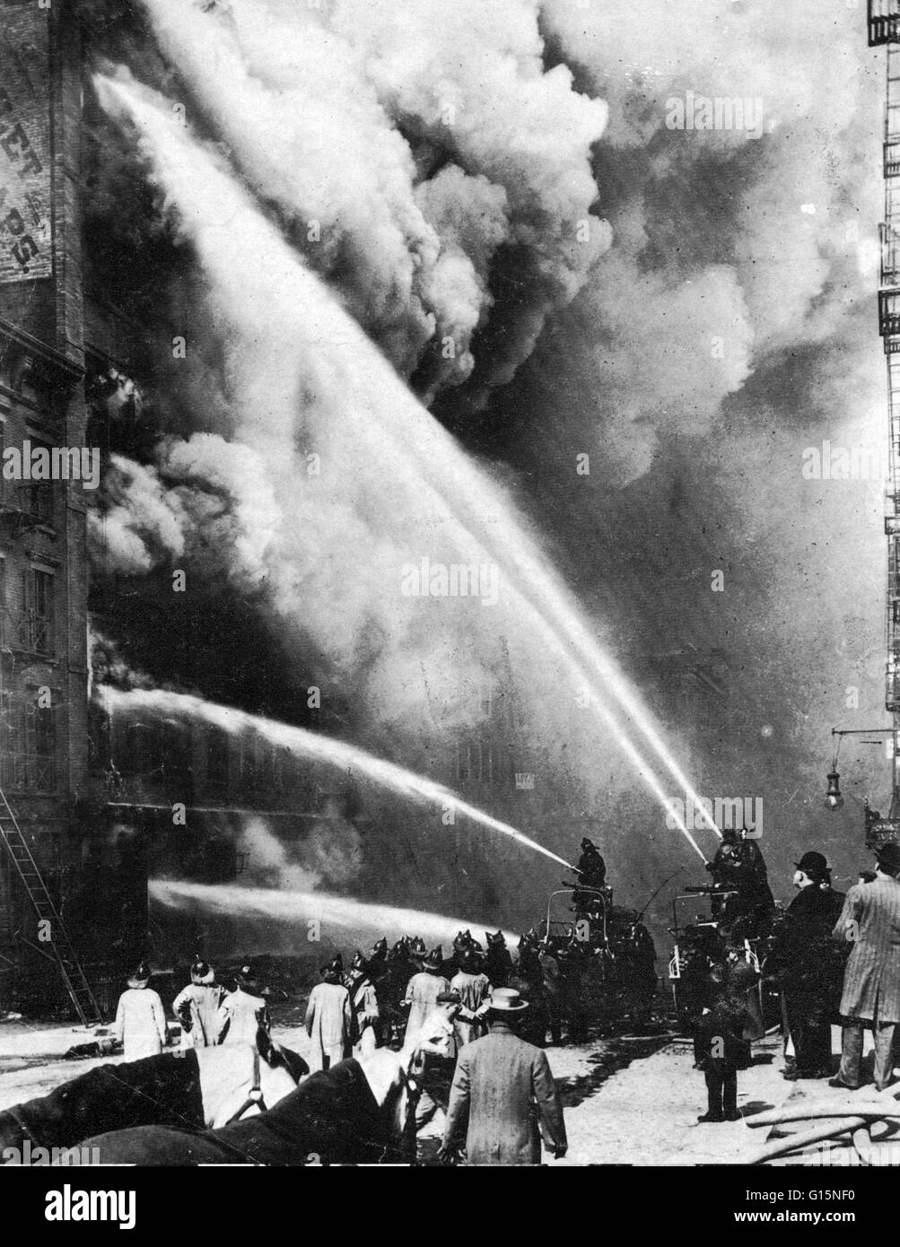 The Triangle Shirtwaist Factory fire in New York City on ... Triangle Shirtwaist Fire Nyu