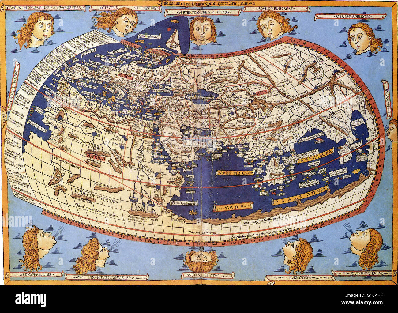 Ptolemy world map taken from the first printed edition of 1472 ptolemy world map taken from the first printed edition of 1472 the first book to have printed maps and the famous rome edition of 1508 gumiabroncs Choice Image