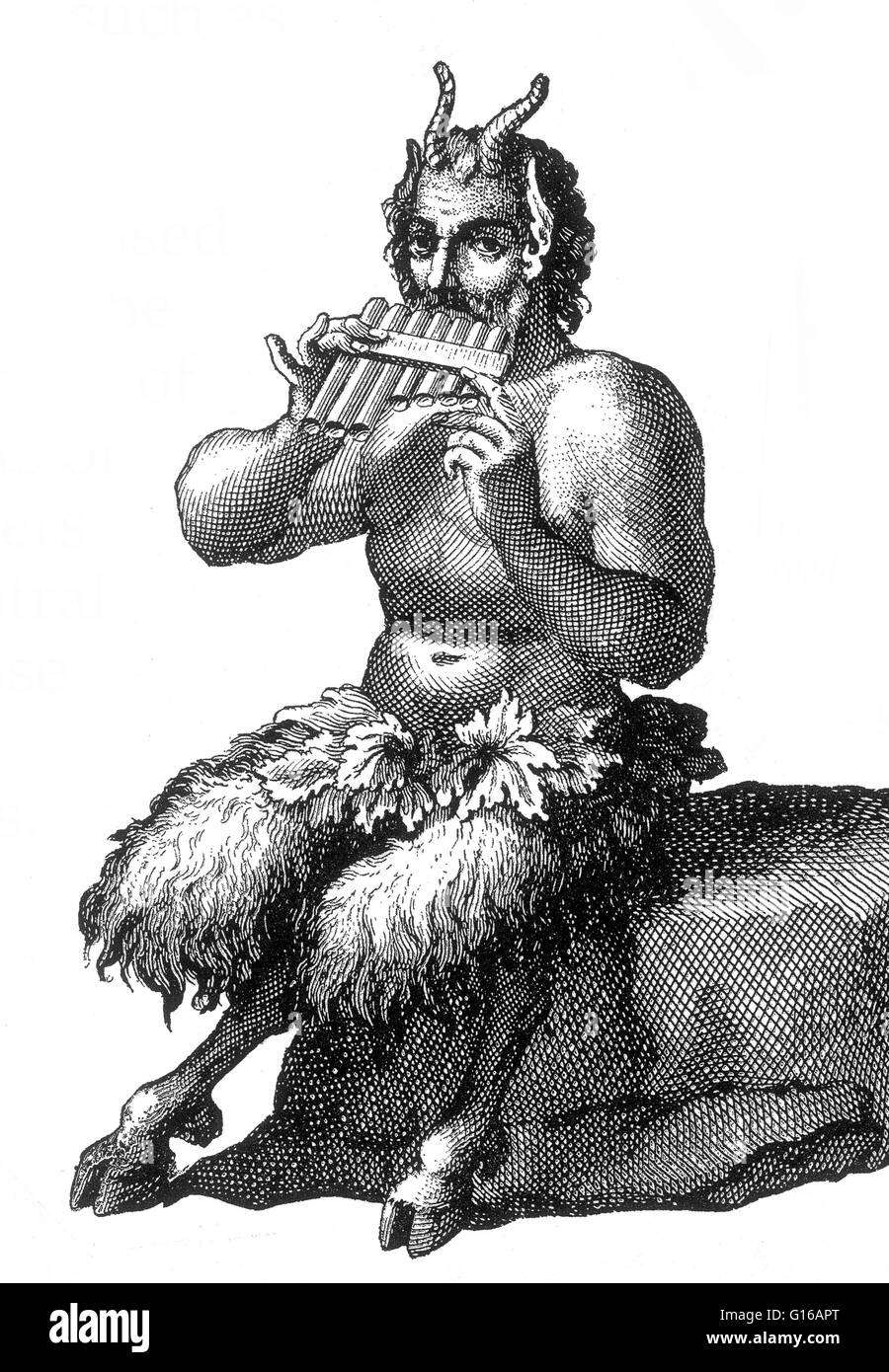 In Greek Religion And Mythology Pan Is The God Of The Wild Stock - Greek religion