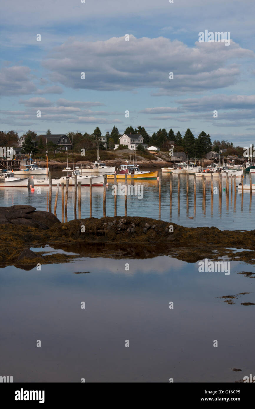 A lobster fishing port in rural coastal maine usa the for Lobster fishing in maine
