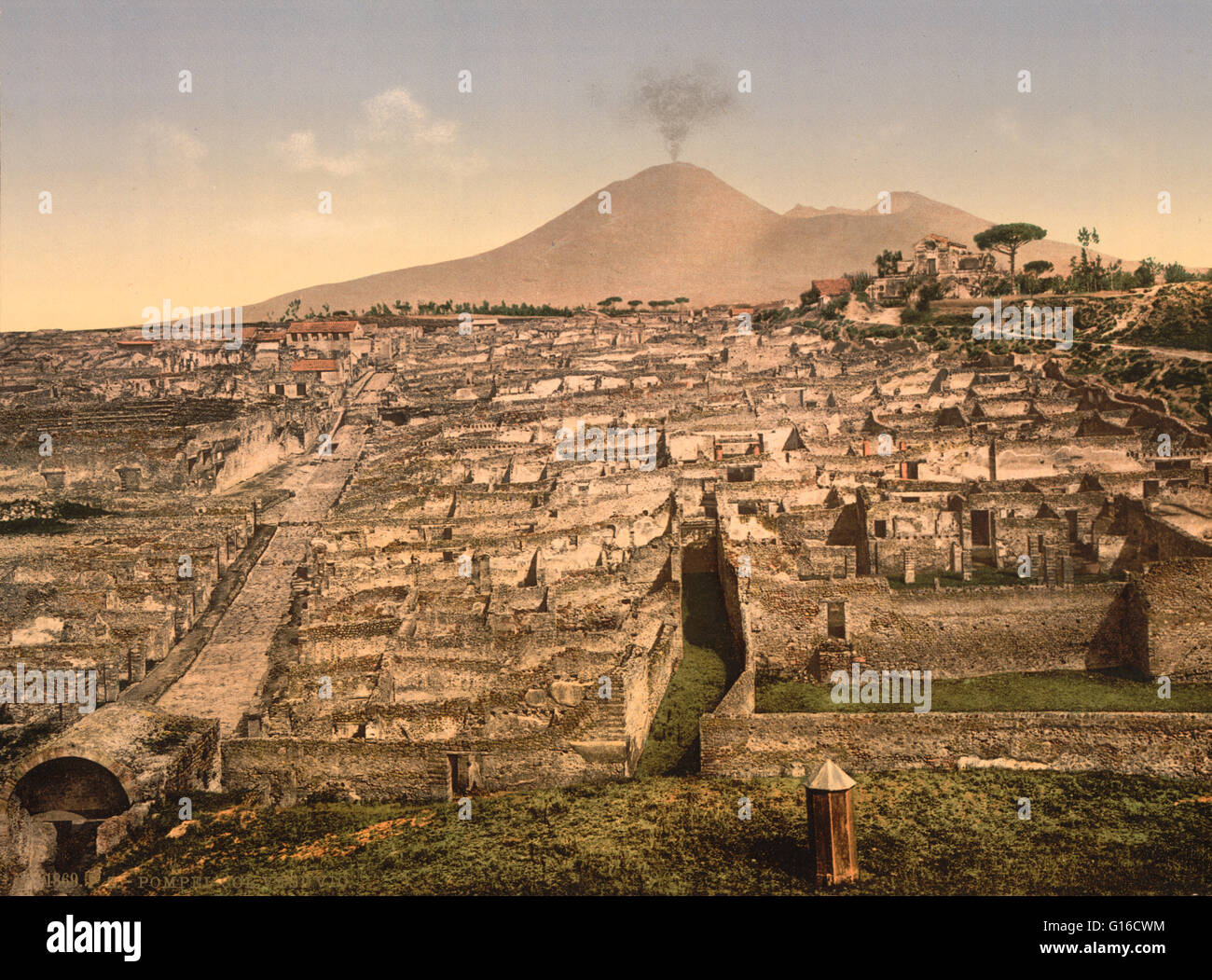 The city of Pompeii was an ancient Roman town-city near ...