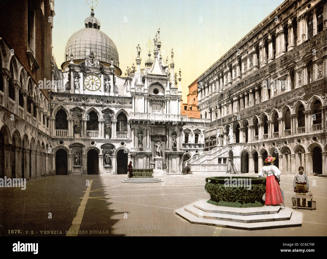The Doge's Palace is a palace built in Venetian Gothic style, and one of  the main landmarks of the city of Venice. The oldest part of the palace is  the ...