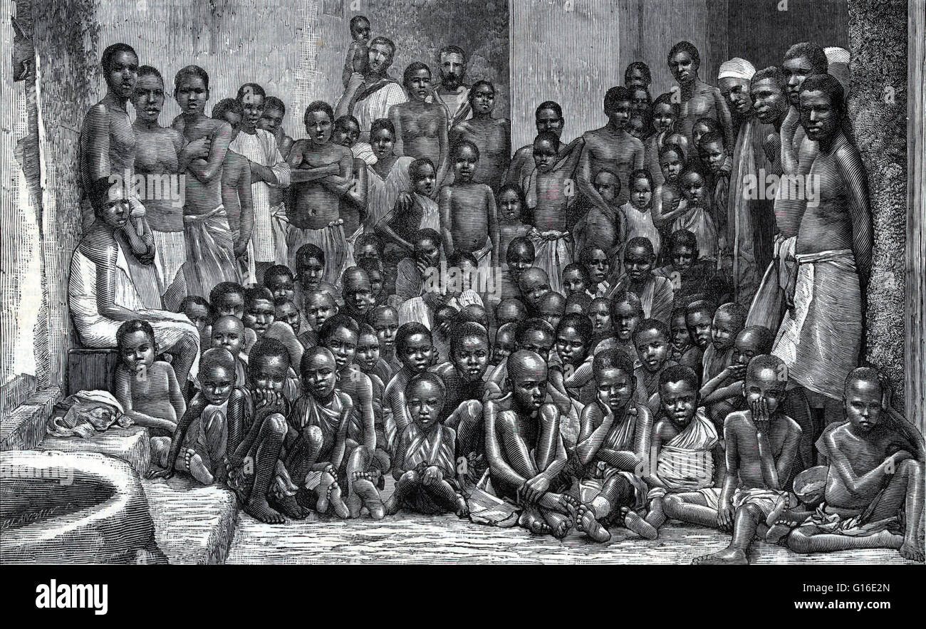 Entitled the african slave trade slaves taken from a dhow entitled the african slave trade slaves taken from a dhow captured by hms undine shows african men women and many children sciox Image collections