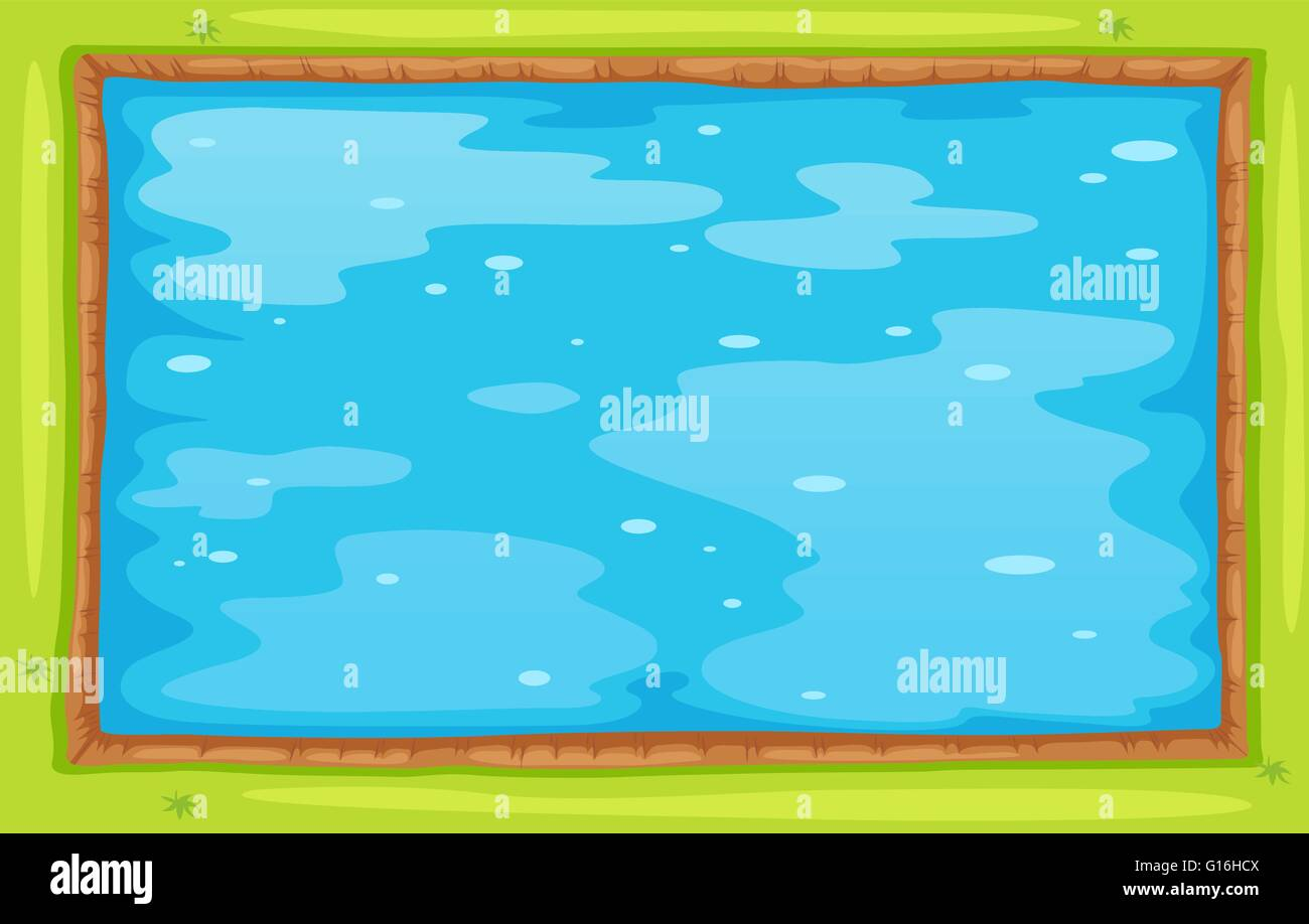 Rectangle Pool Aerial View aerial view of lake or pool illustration stock vector art