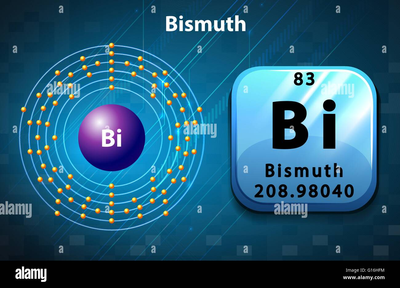 Symbol and electron diagram of bismuth illustration stock vector symbol and electron diagram of bismuth illustration buycottarizona