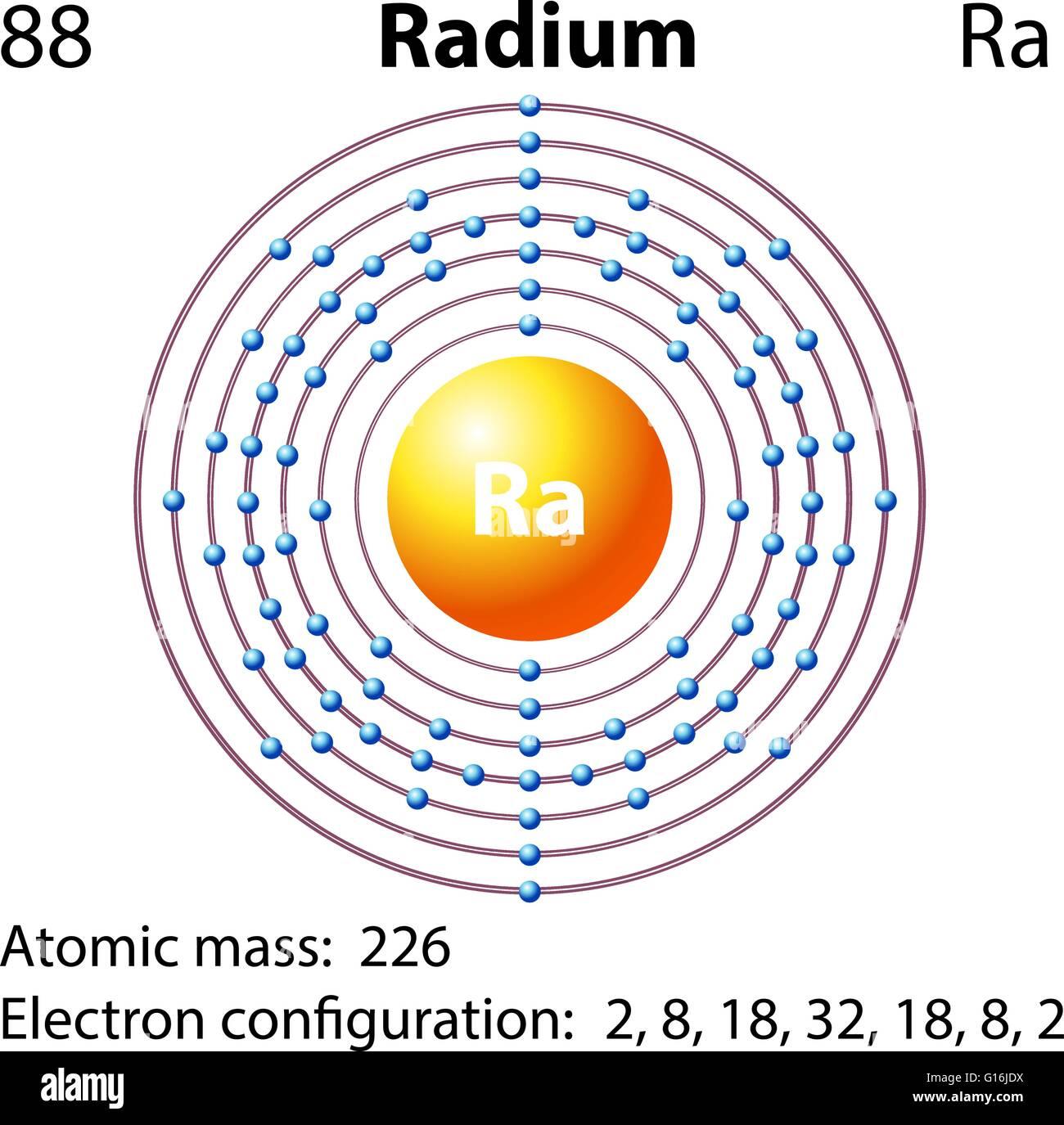 Diagram representation of the element radium illustration stock diagram representation of the element radium illustration pooptronica