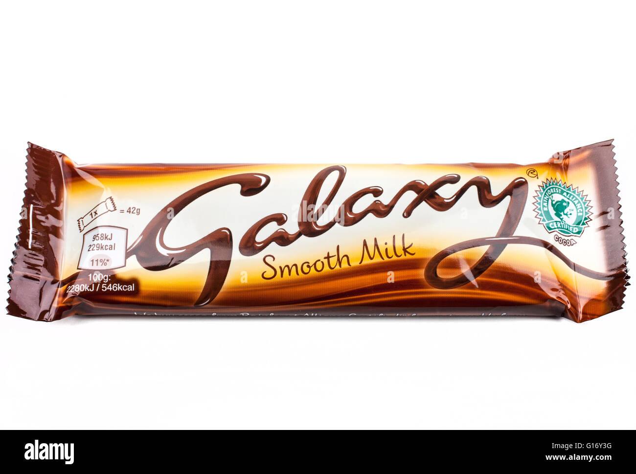 LONDON, UK - MAY 6TH 2016: An unopened Galaxy chocolate bar Stock ...
