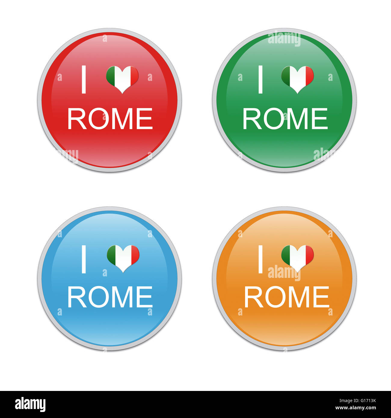 Icons to symbolize i love rome in red green blue and orange icons to symbolize i love rome in red green blue and orange colors biocorpaavc Images