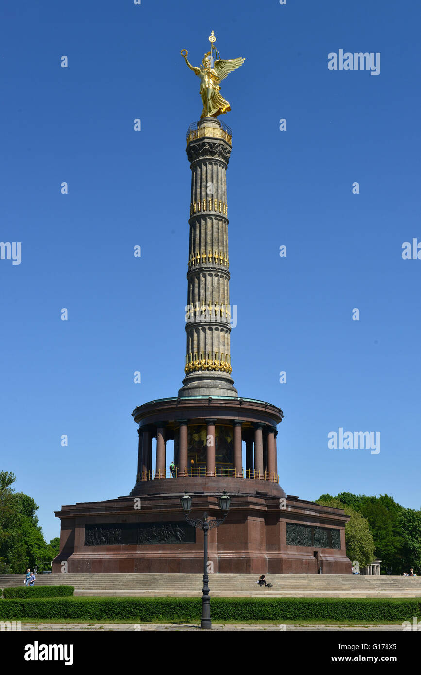 siegessaeule grosser stern tiergarten berlin deutschland stock photo royalty free image. Black Bedroom Furniture Sets. Home Design Ideas