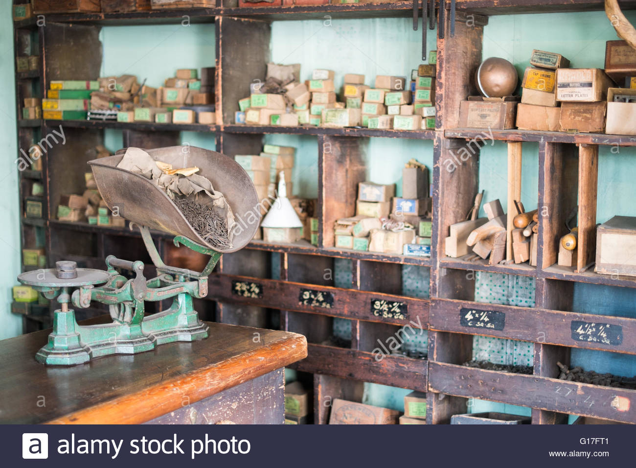 Black country furniture - An Old Hardware Store At The Black Country Living Museum Stock Image