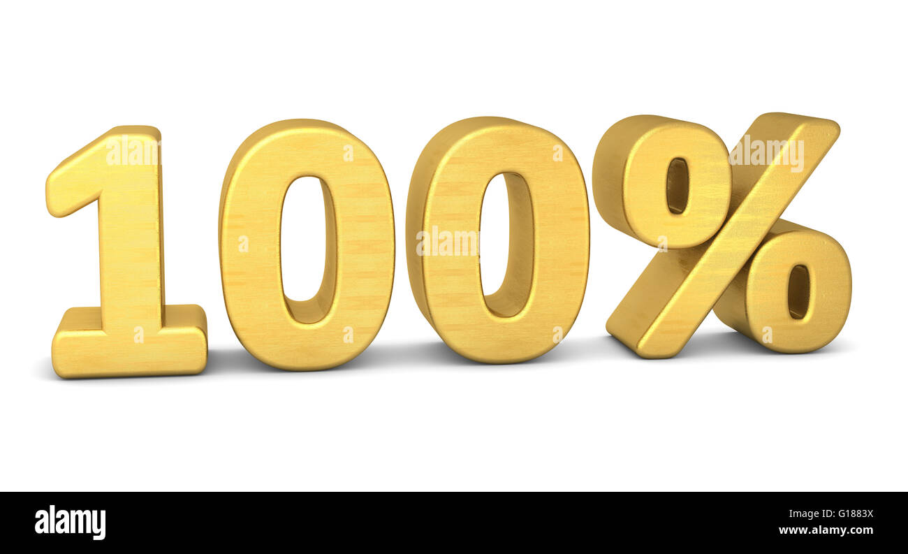 100 percent symbol 3d rendering gold stock photo 104058862 alamy 100 percent symbol 3d rendering gold buycottarizona Image collections