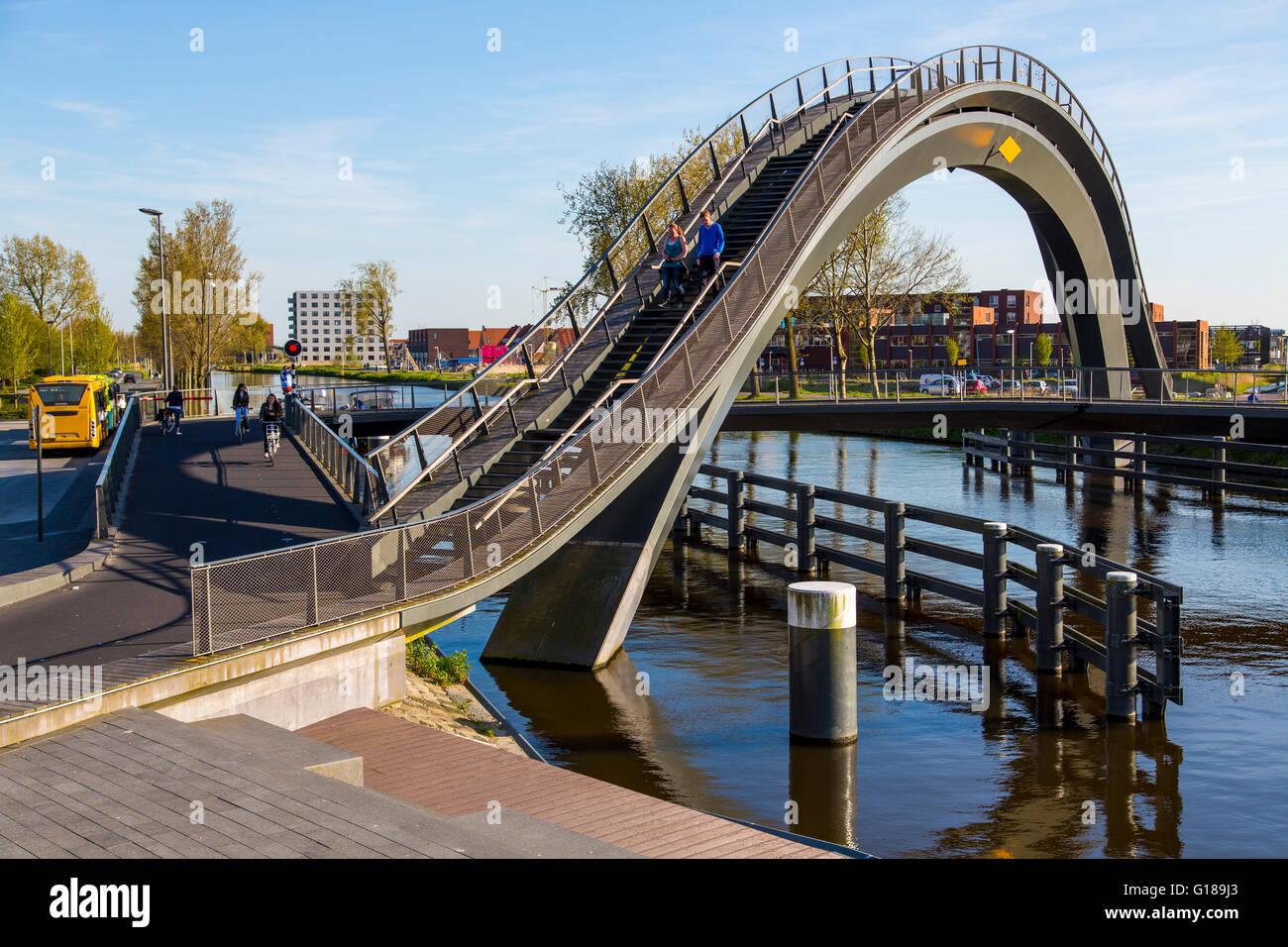 Cycle And Pedestrian Bridge Melkwegbruk In Purmerend