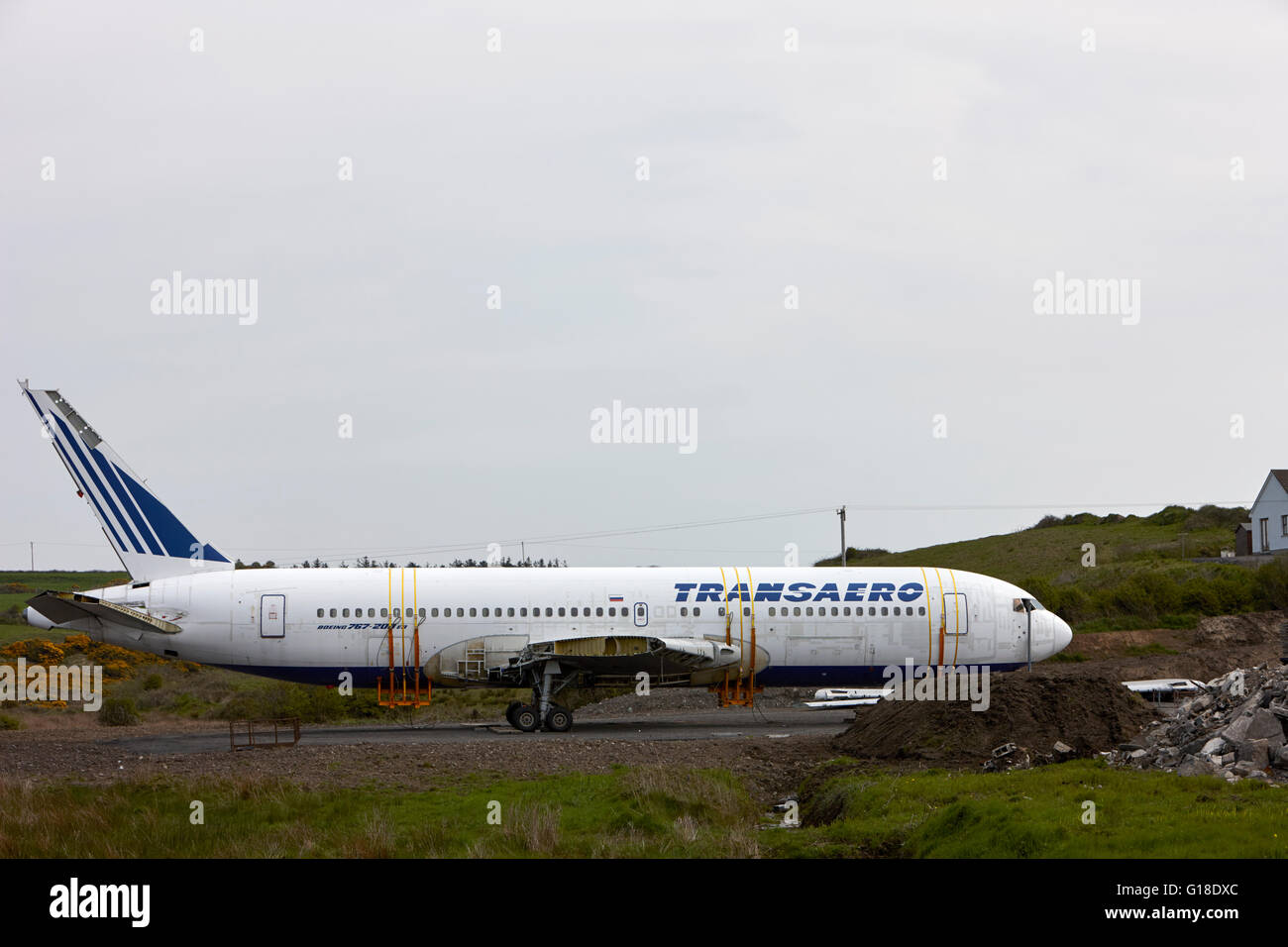 Transaero Boeing 767 To Be Used As A Glamping Campsite Quirky Glamping  Nights Village Enniscrone County