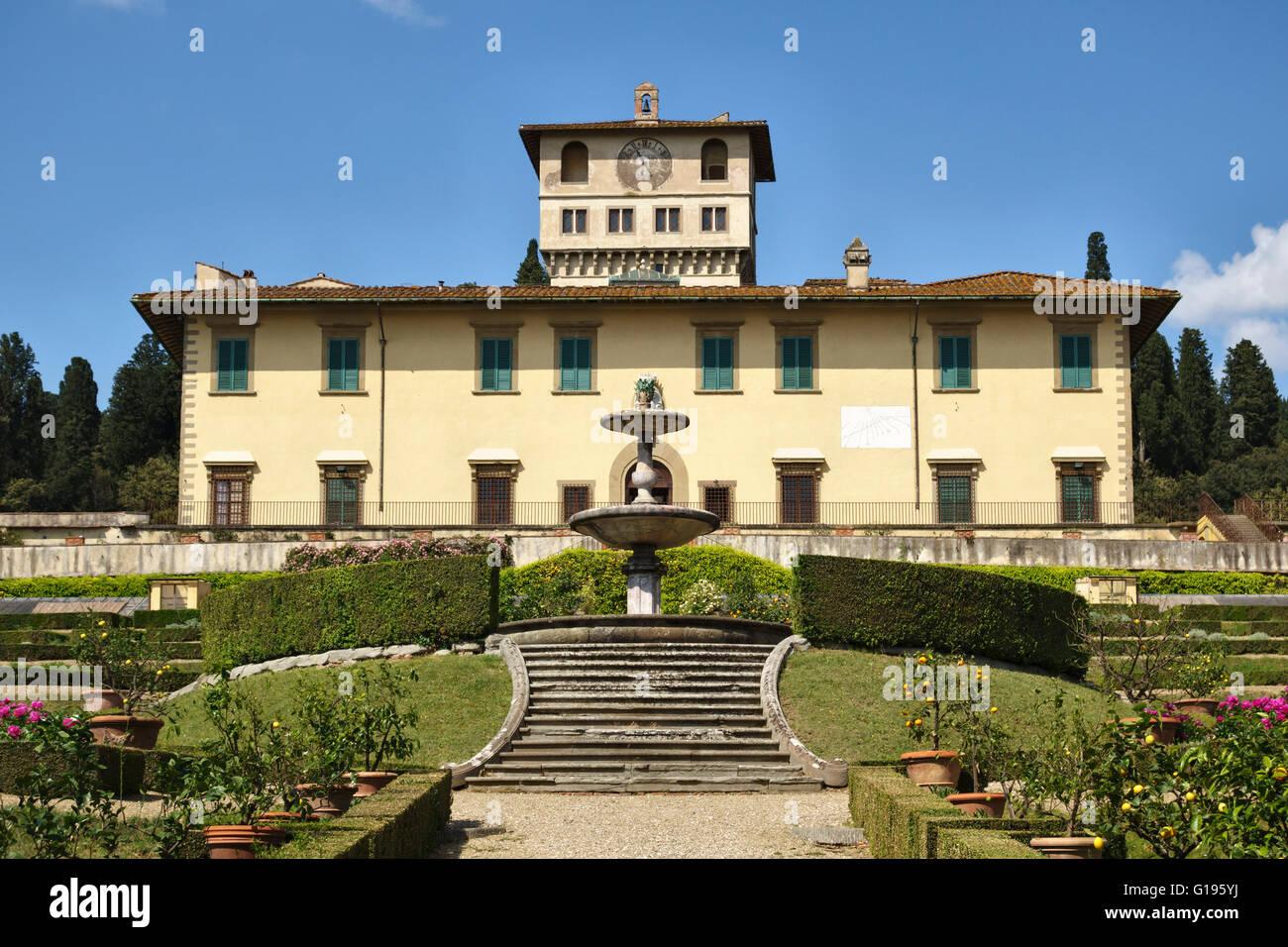 Near florence italy the medici villa della petraia la for Villa la petraia